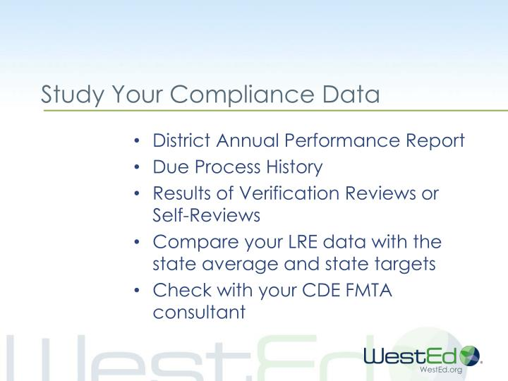 Study Your Compliance Data