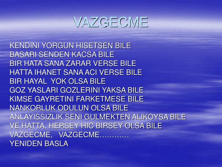VAZGECME