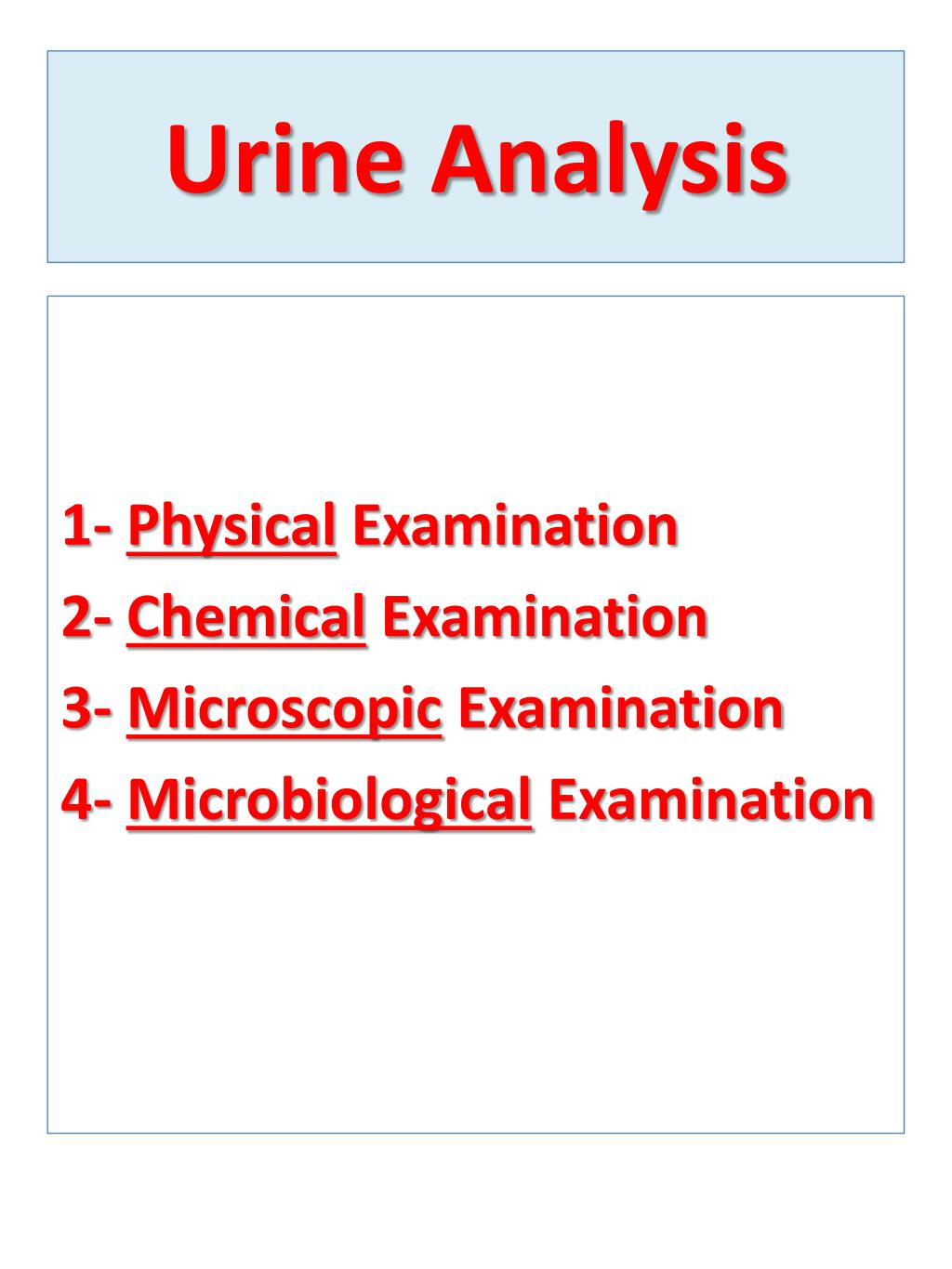 Microscopic examination of urine ppt download.