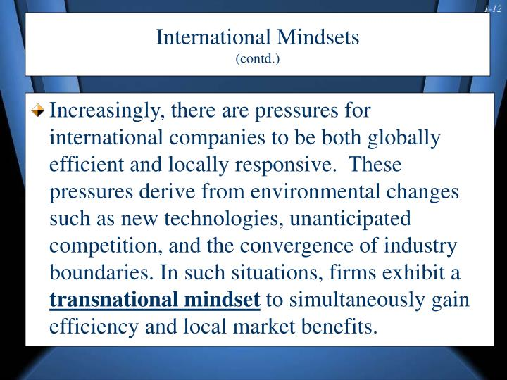 International Mindsets