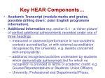 key hear components