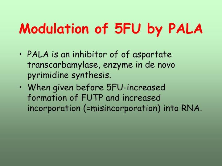Modulation of 5FU by PALA