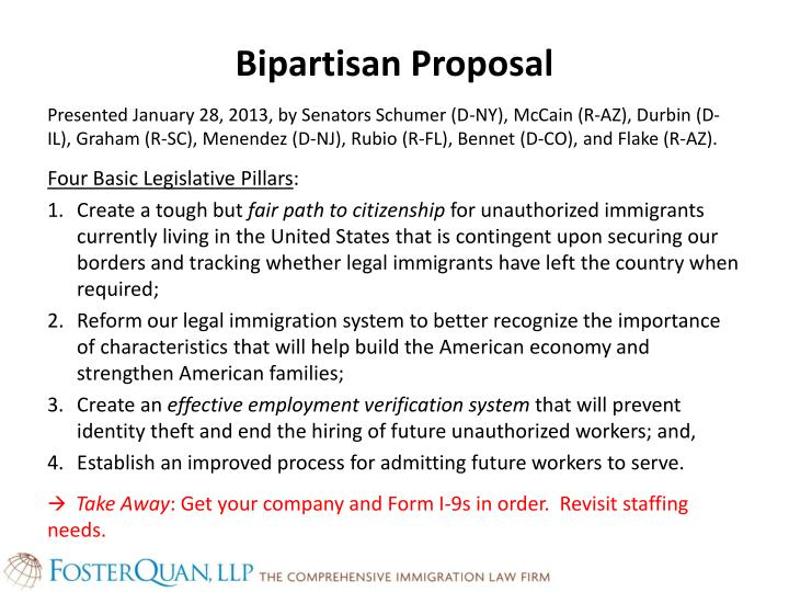 Bipartisan Proposal