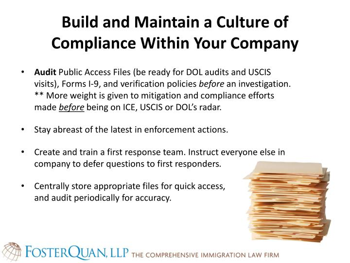Build and Maintain a Culture of