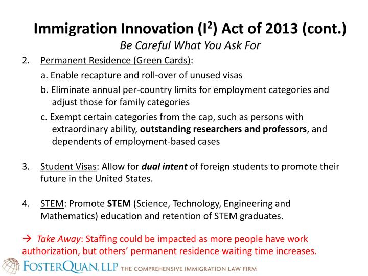 Immigration Innovation (I