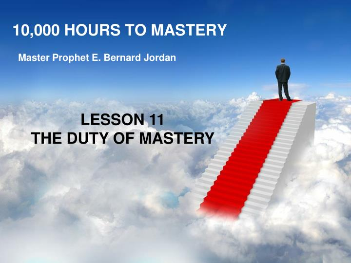 10 000 hours to mastery n.