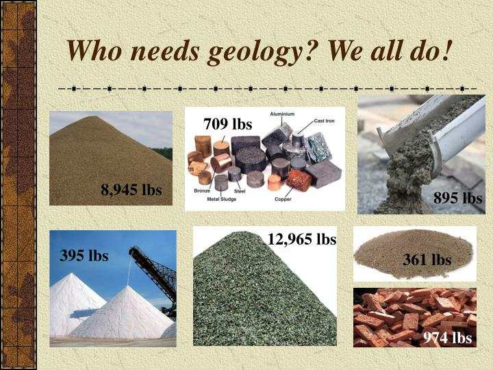 Who needs geology? We all do!