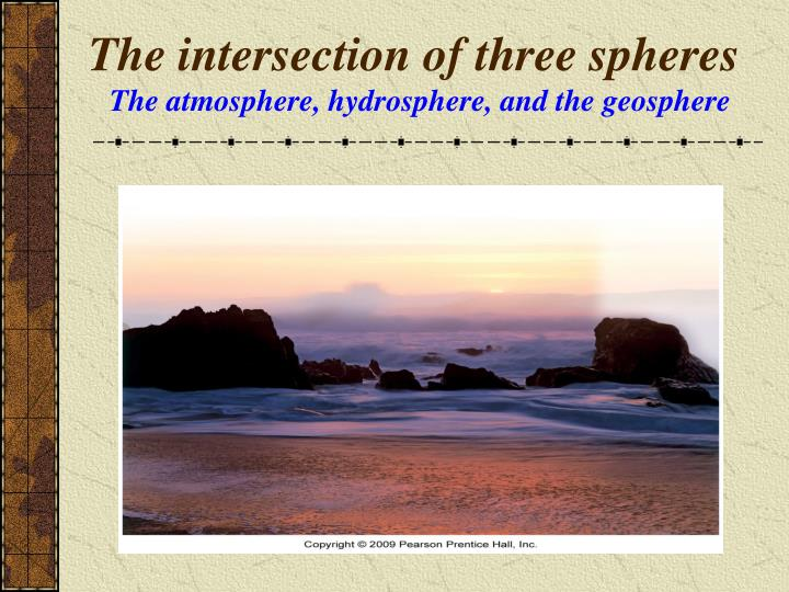 The intersection of three spheres
