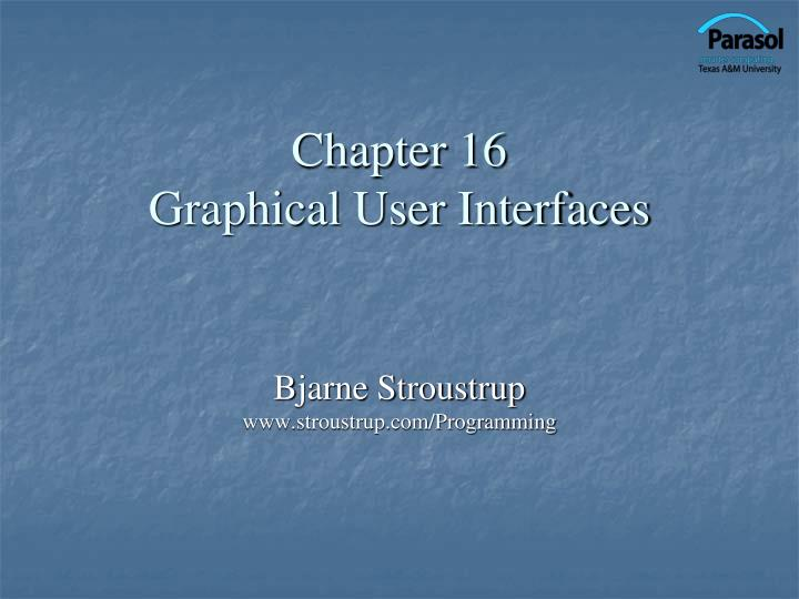 chapter 16 graphical user interfaces n.
