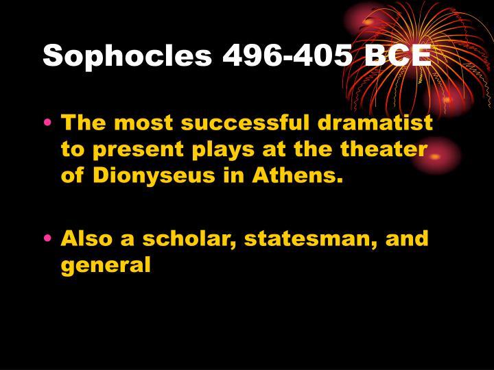 Sophocles 496 405 bce