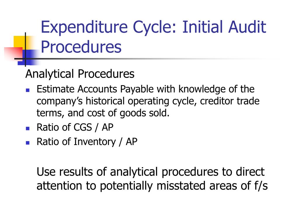 PPT - CHAPTER 15 Auditing the Expenditure Cycle Spring 2007