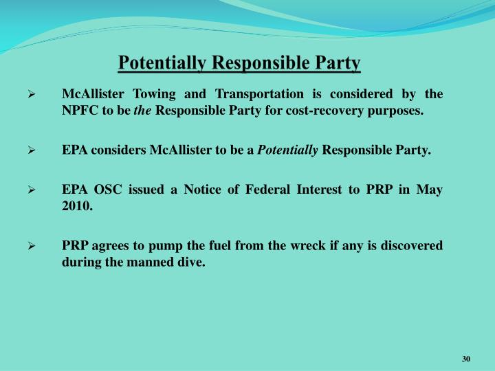 Potentially Responsible Party