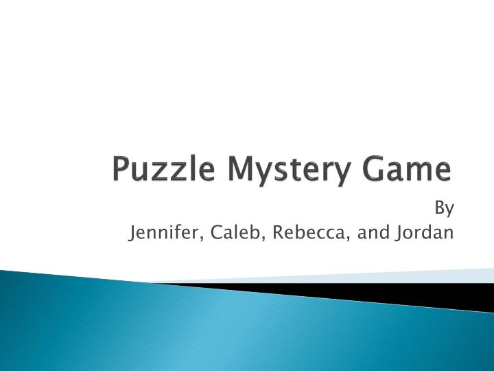 puzzle mystery game n.