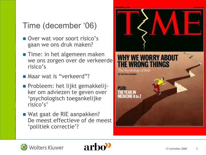 Time december 06