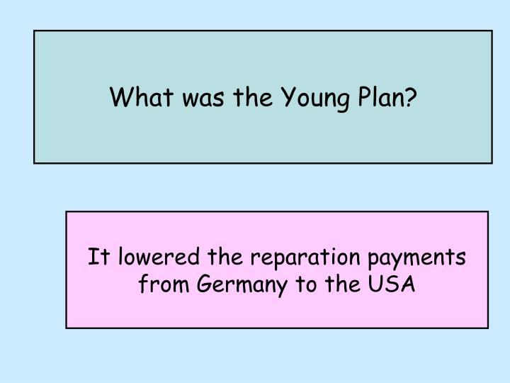 What was the Young Plan?