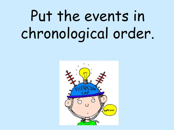 Put the events in chronological order.