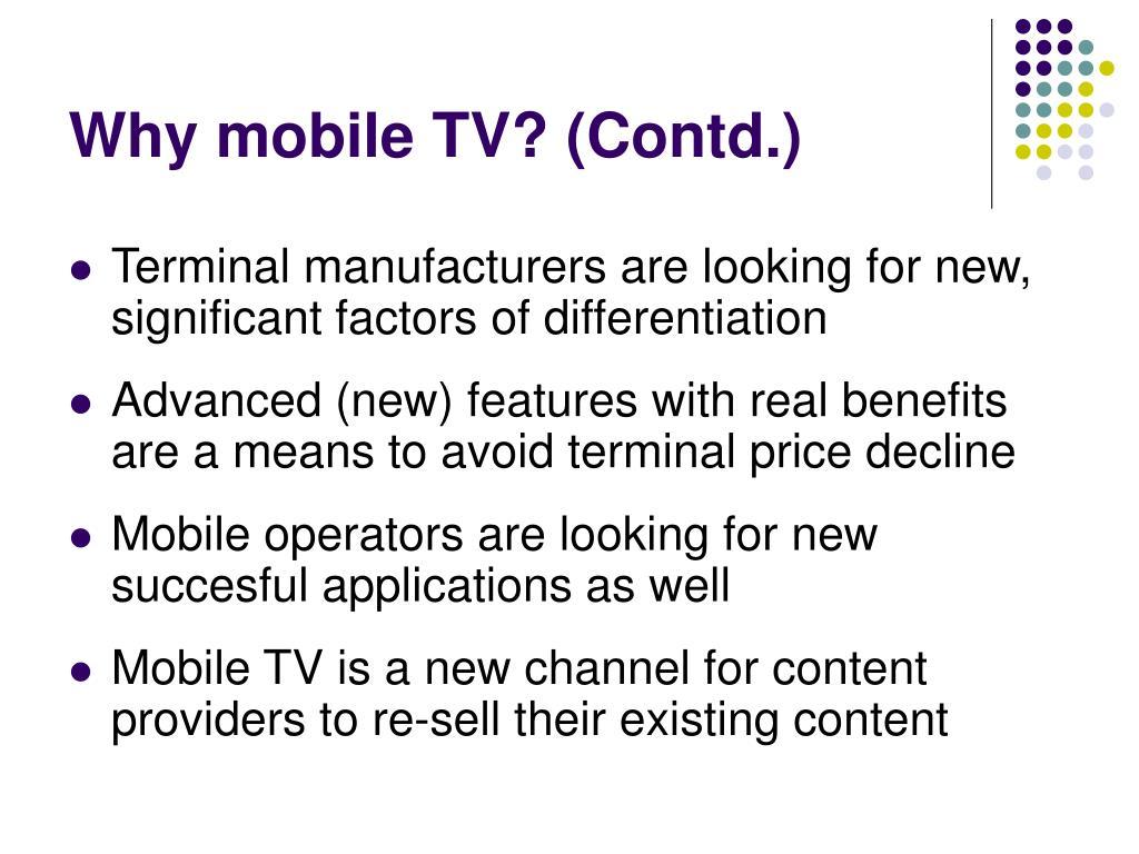 PPT - Mobile Television Business & Technology Platforms, DVB