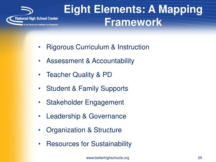 Eight Elements: A Mapping Framework