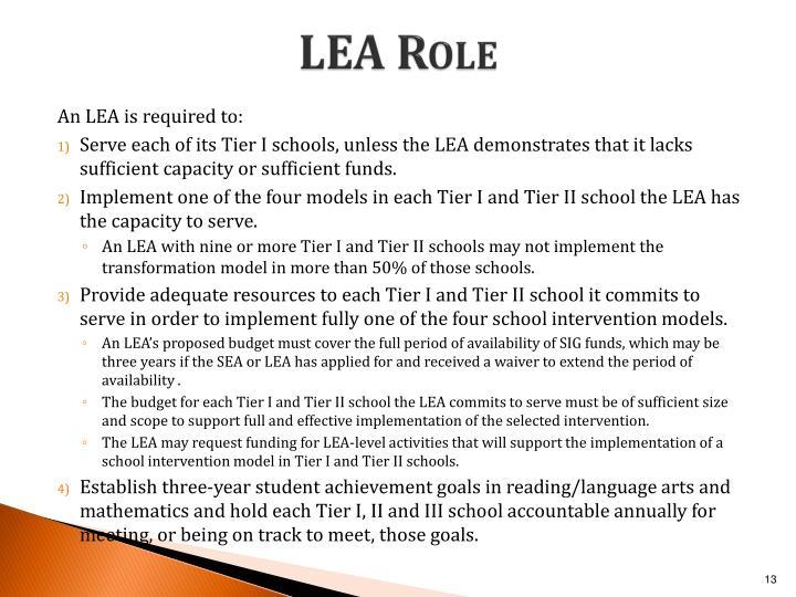 LEA Role