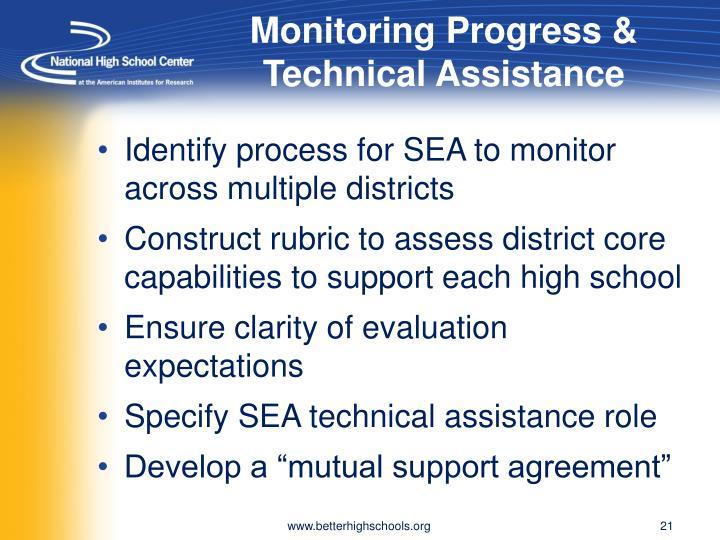 Monitoring Progress & Technical Assistance