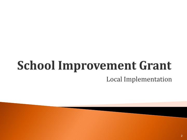 School improvement grant