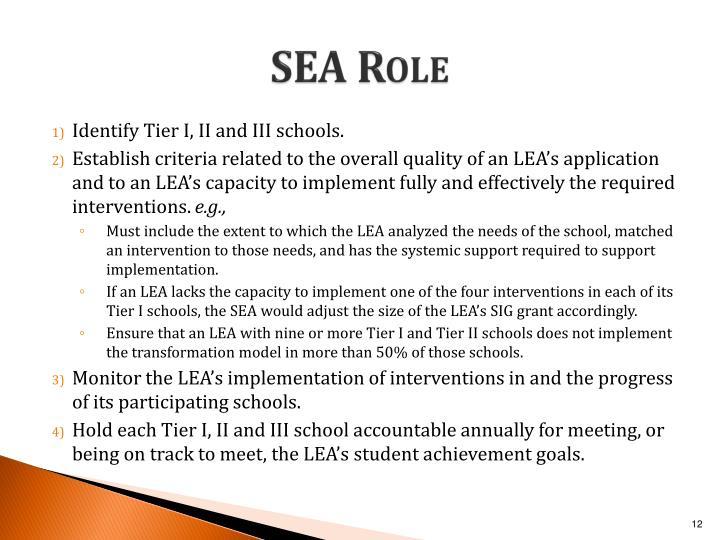 SEA Role