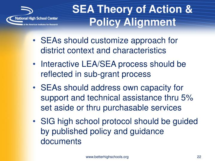 SEA Theory of Action & Policy Alignment