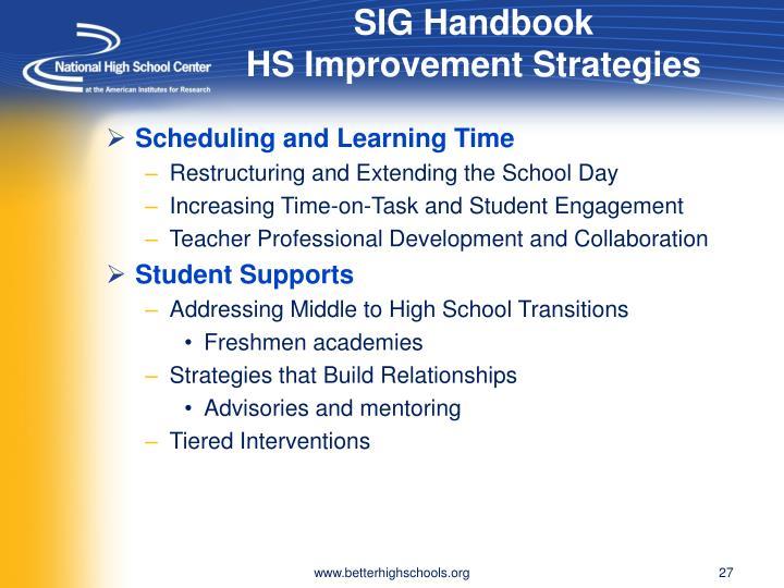 SIG Handbook
