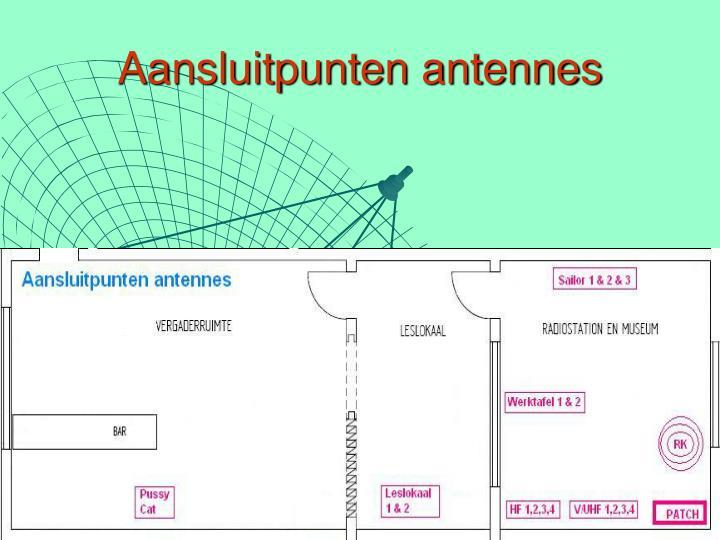 Aansluitpunten antennes