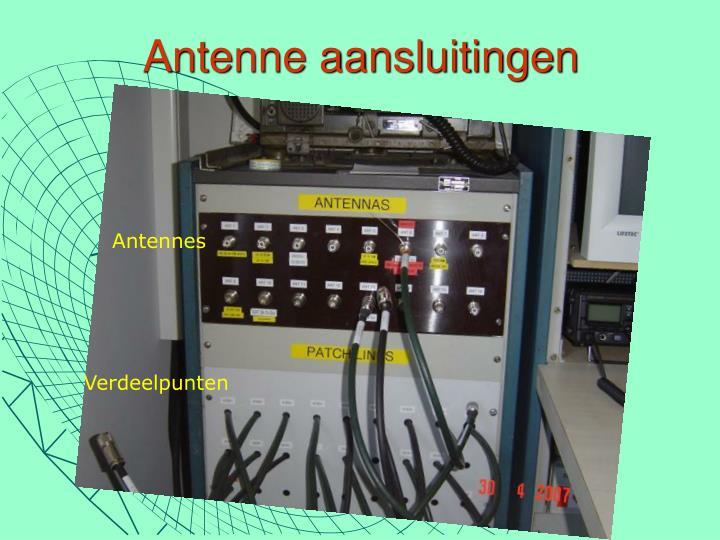 Antenne aansluitingen