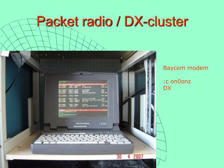 Packet radio / DX-cluster