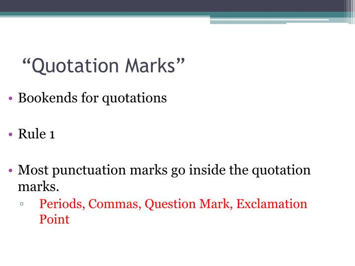 Ppt Punctuation Powerpoint Presentation Id6586975