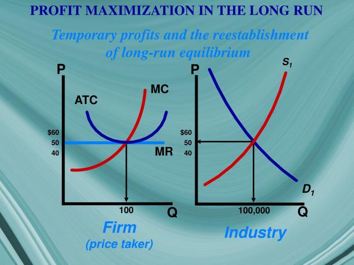 PROFIT MAXIMIZATION IN THE LONG RUN