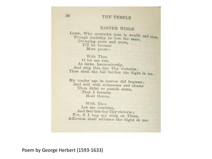 Poem by George Herbert (1593-1633)