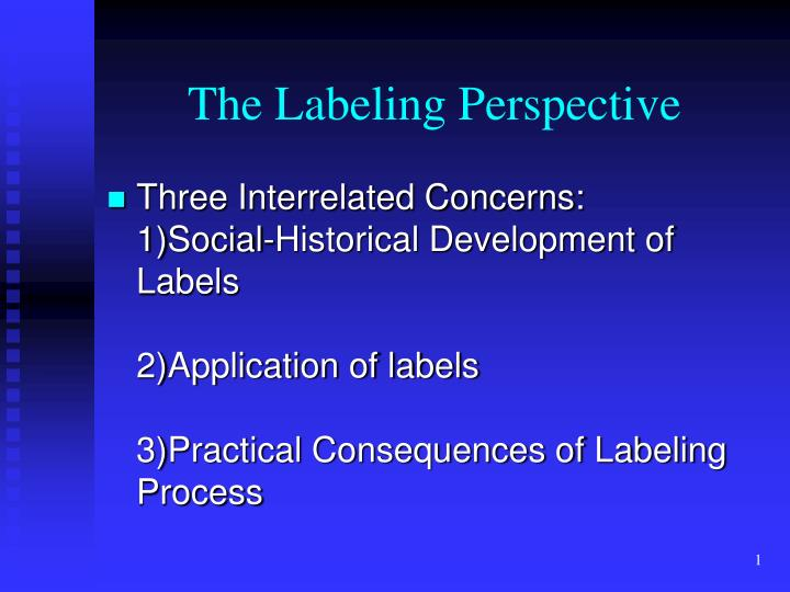 the labeling perspective n.