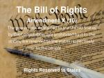 the bill of rights9