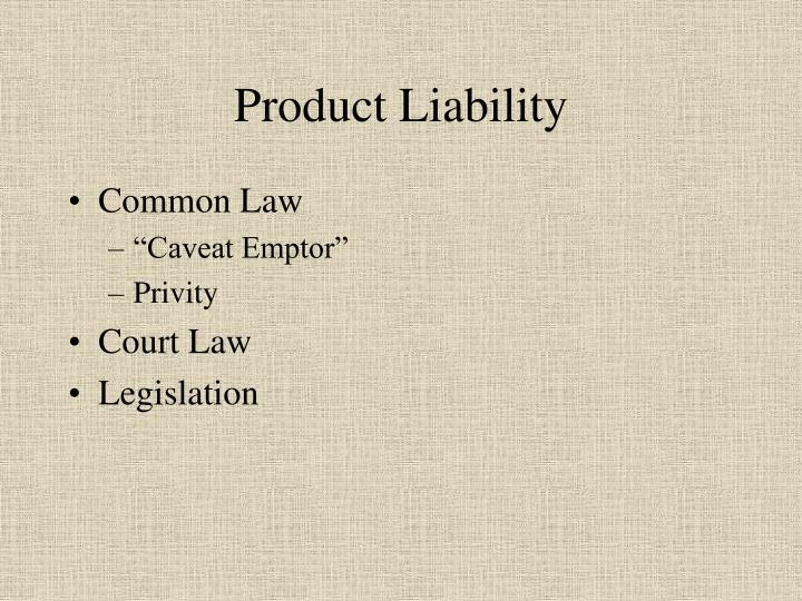 product liability n.