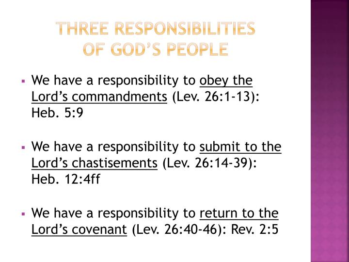 Three Responsibilities