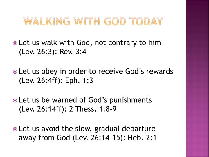 Walking with God Today