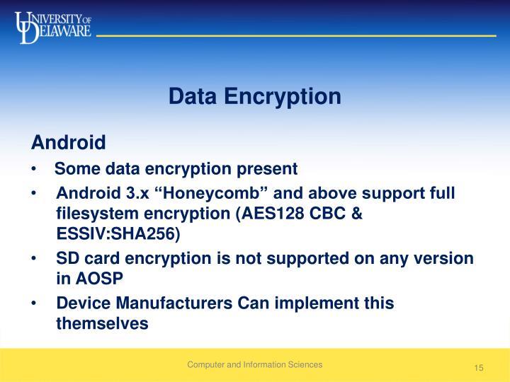 Data Encryption