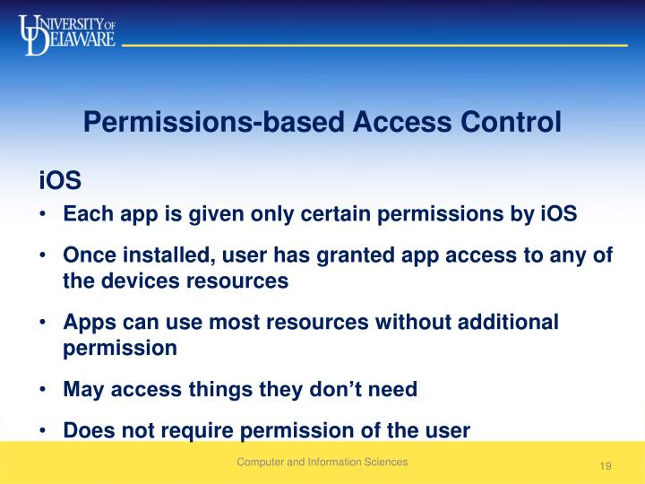 Permissions-based Access Control