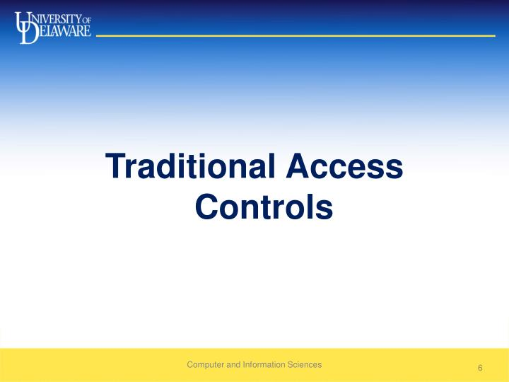 Traditional Access Controls