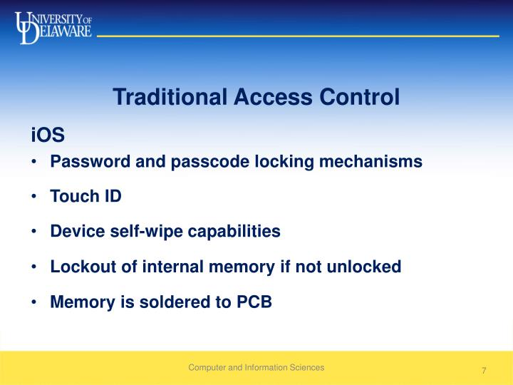 Traditional Access Control