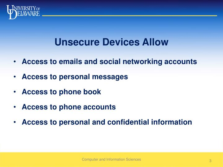 Unsecure Devices Allow