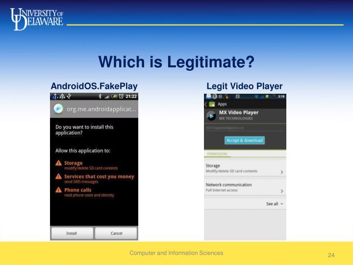 Which is Legitimate?