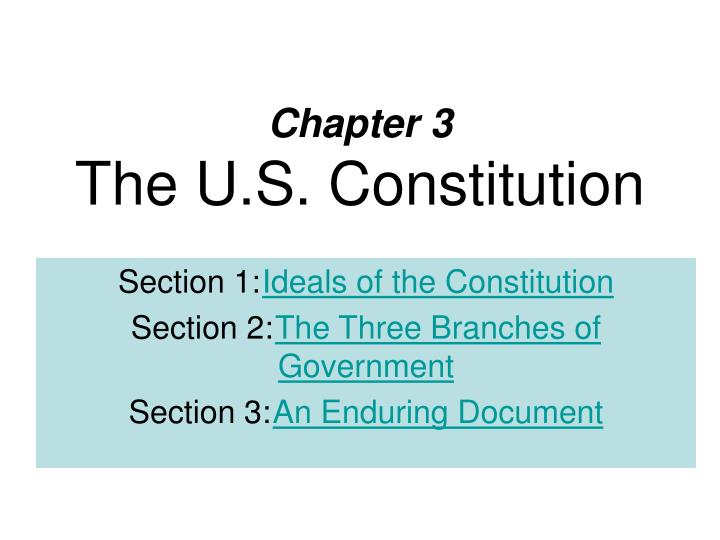 chapter 3 the u s constitution n.