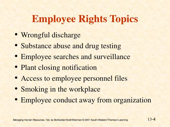 Employee Rights Topics