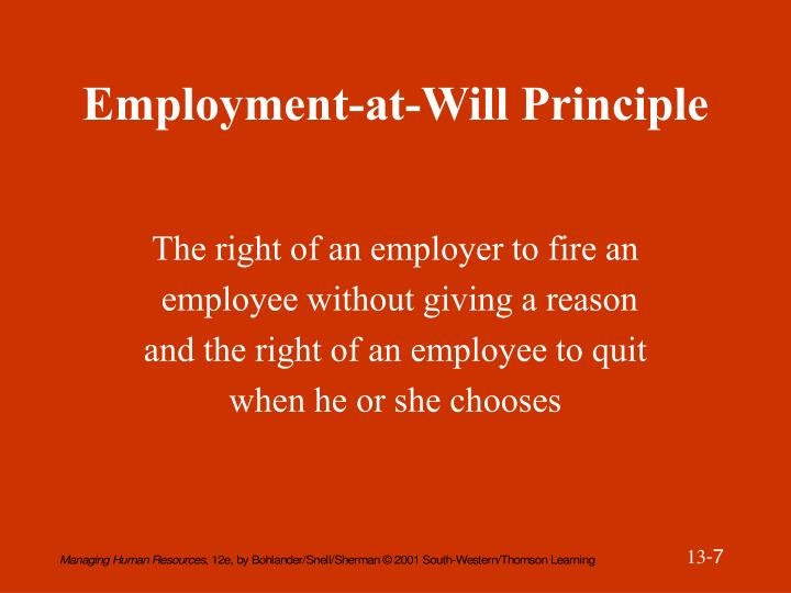 Employment-at-Will Principle