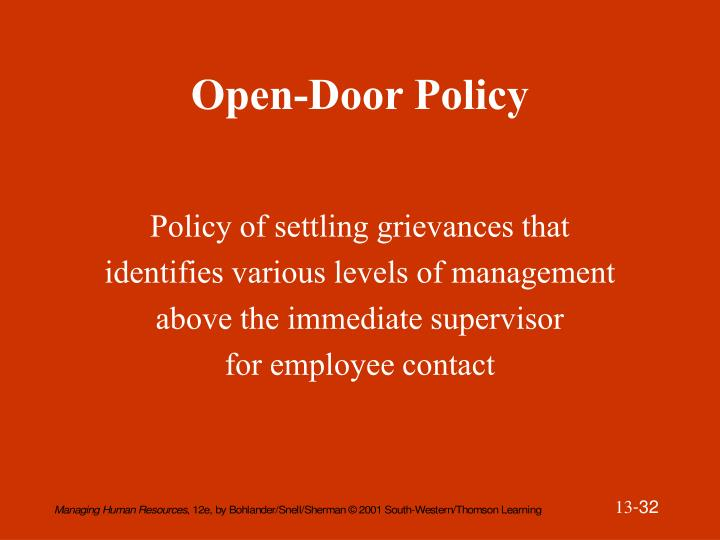 Open-Door Policy