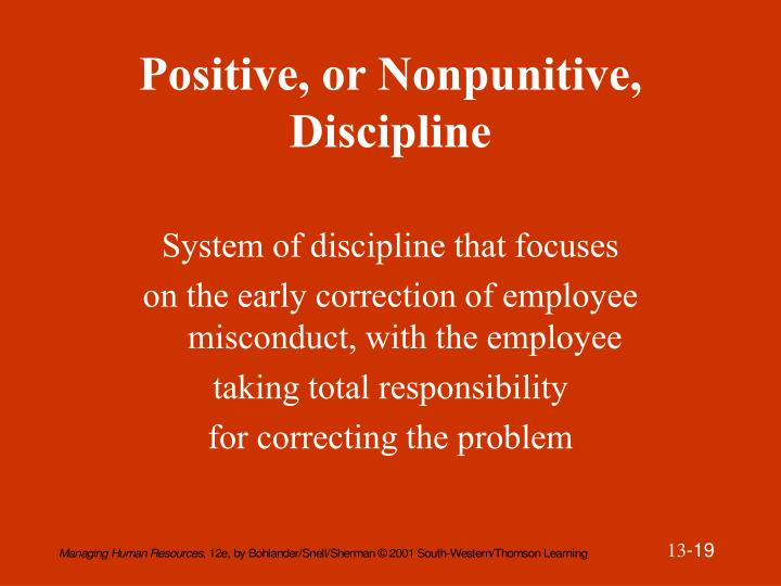 Positive, or Nonpunitive, Discipline